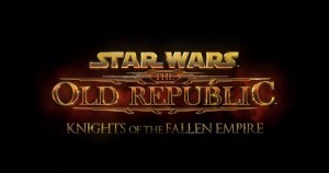 Star Wars TOR Knights of the Fallen Empire EA E3 2015
