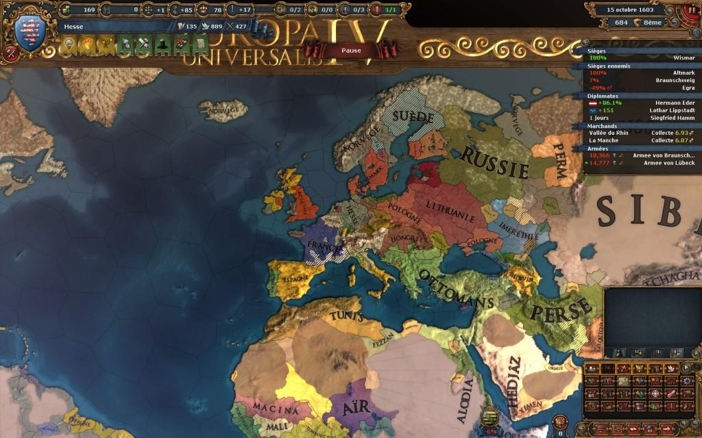 Europa Universalis map politique