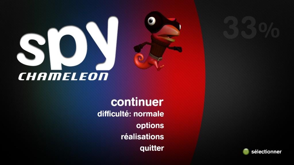 Spy Chameleon Menu