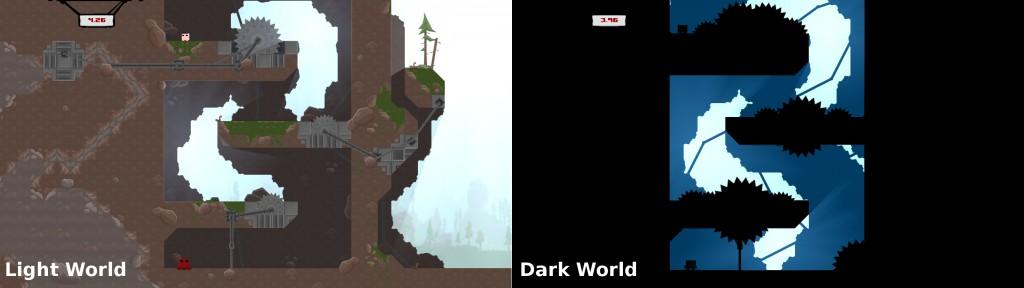 Super Meat boy Light World Dark World