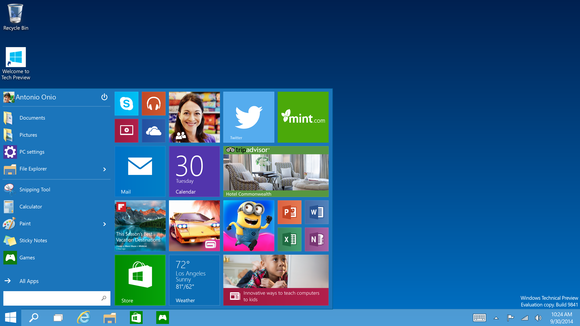 Windows 10 : Menu Démarrer