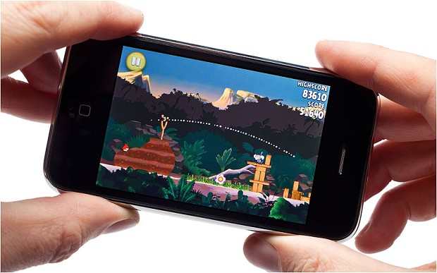 smartphone gaming angry birds