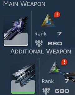 Armes principales équipement de Skyforge