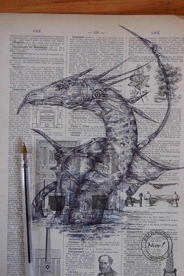 Bluedraw Nico Piret Sketch Dragon
