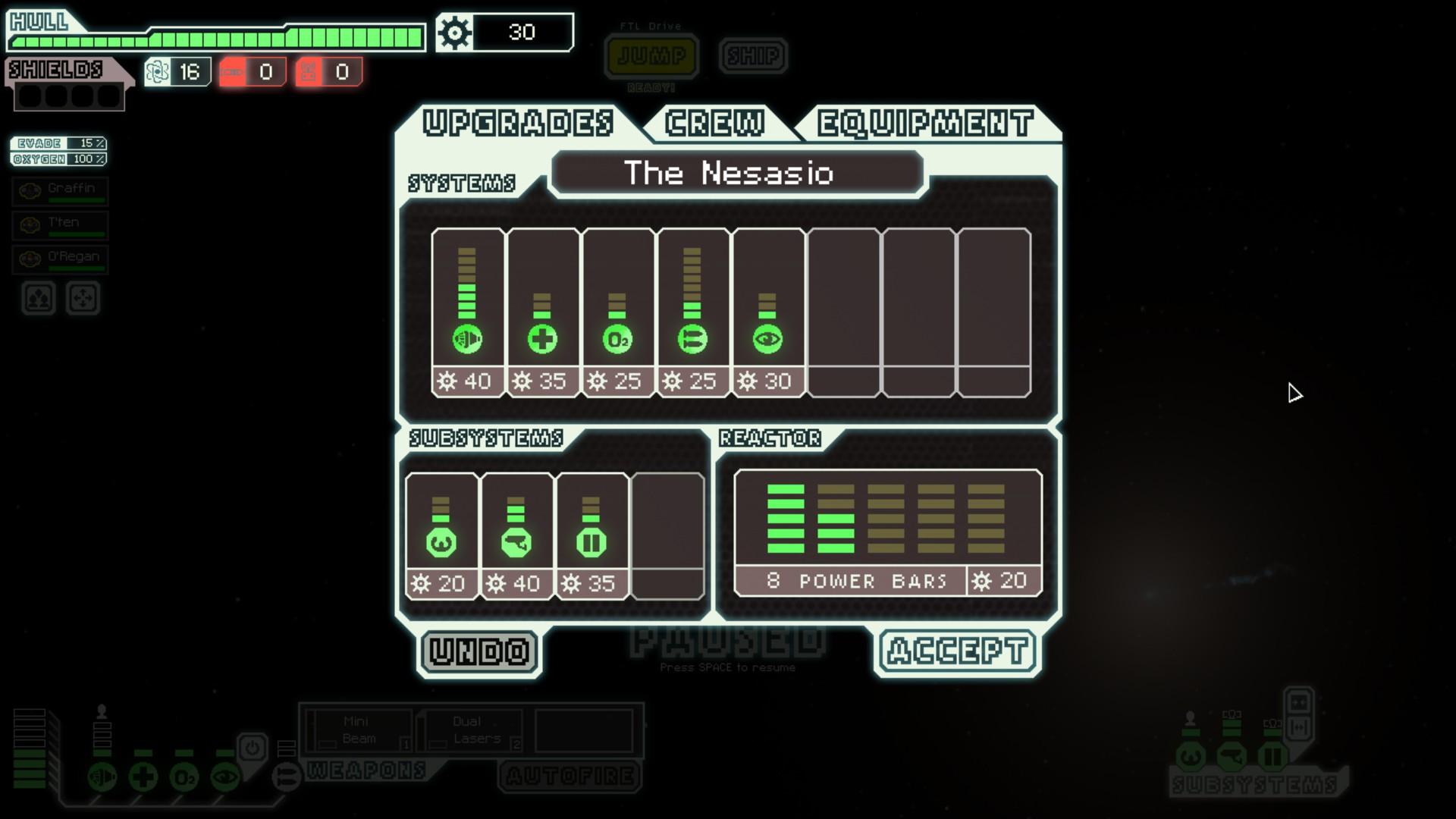 FTL - Equipement vaisseau