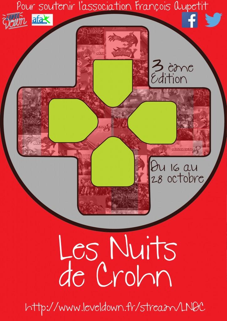 Affiche Les Nuits de Crohn edition2015