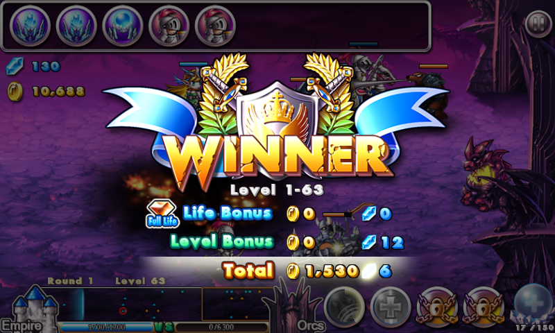 Empire vs Orcs victoire