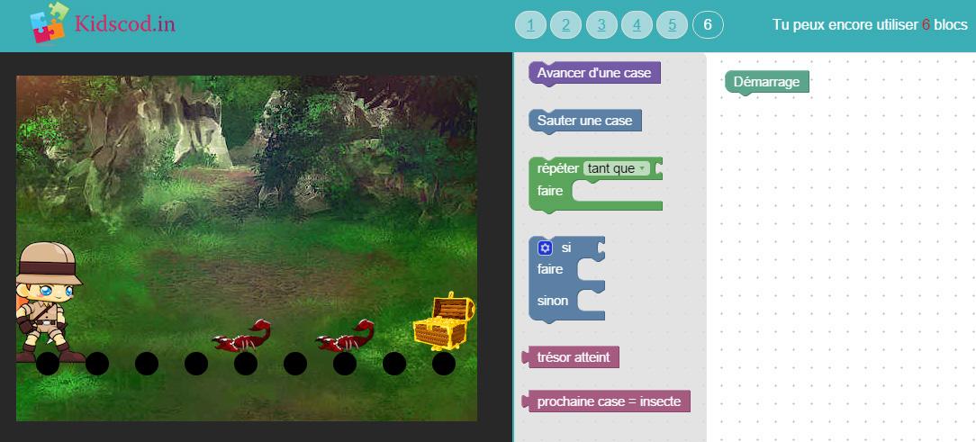 Kidscod niveau 6