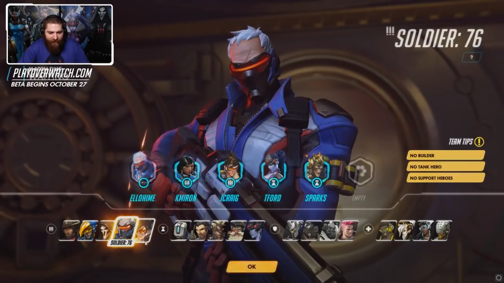 Selection personnage Overwatch