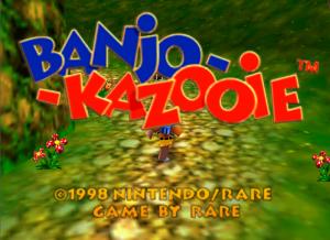 Banjo-Kazooie écran titre