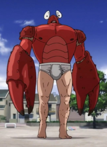 One punch man homme crabe