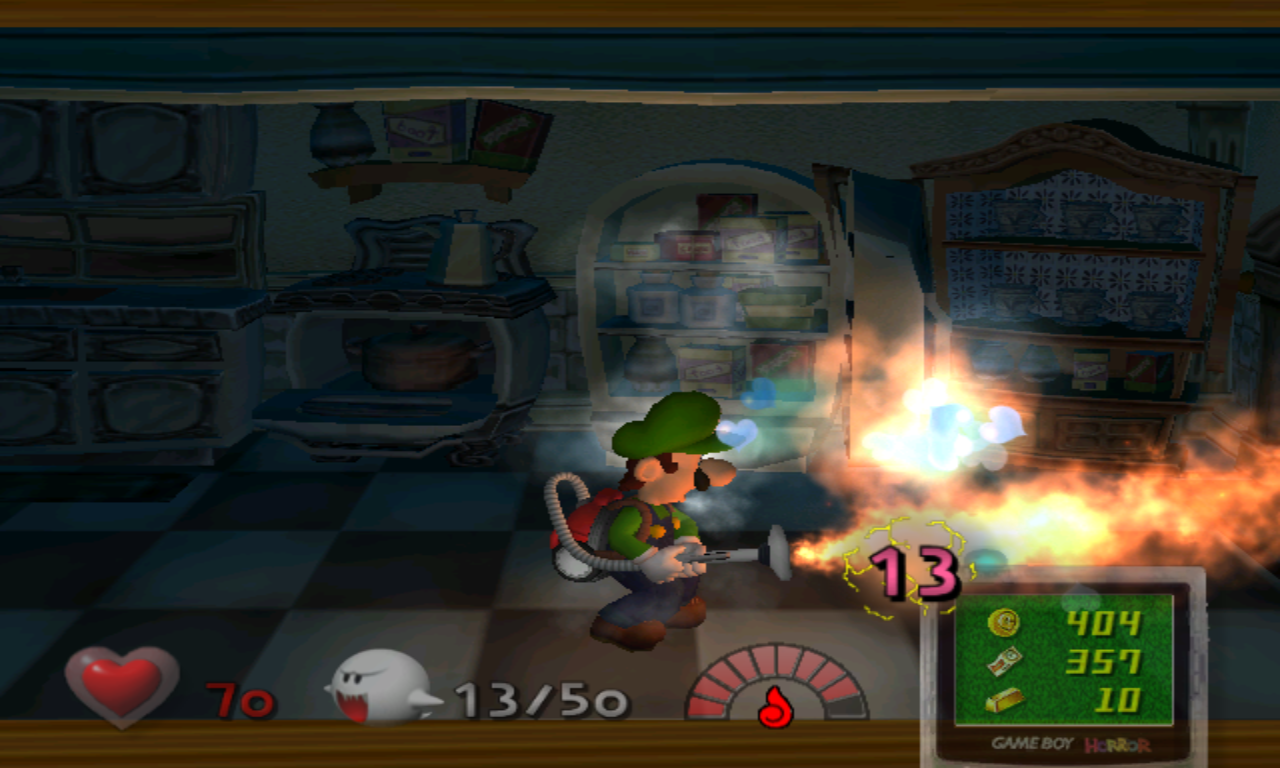 Luigi's Mansion Flamme