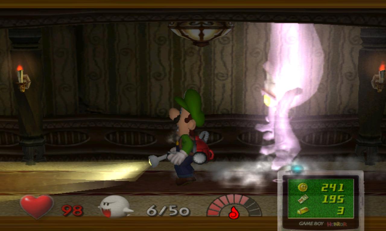 Luigi's Mansion fantôme plafond