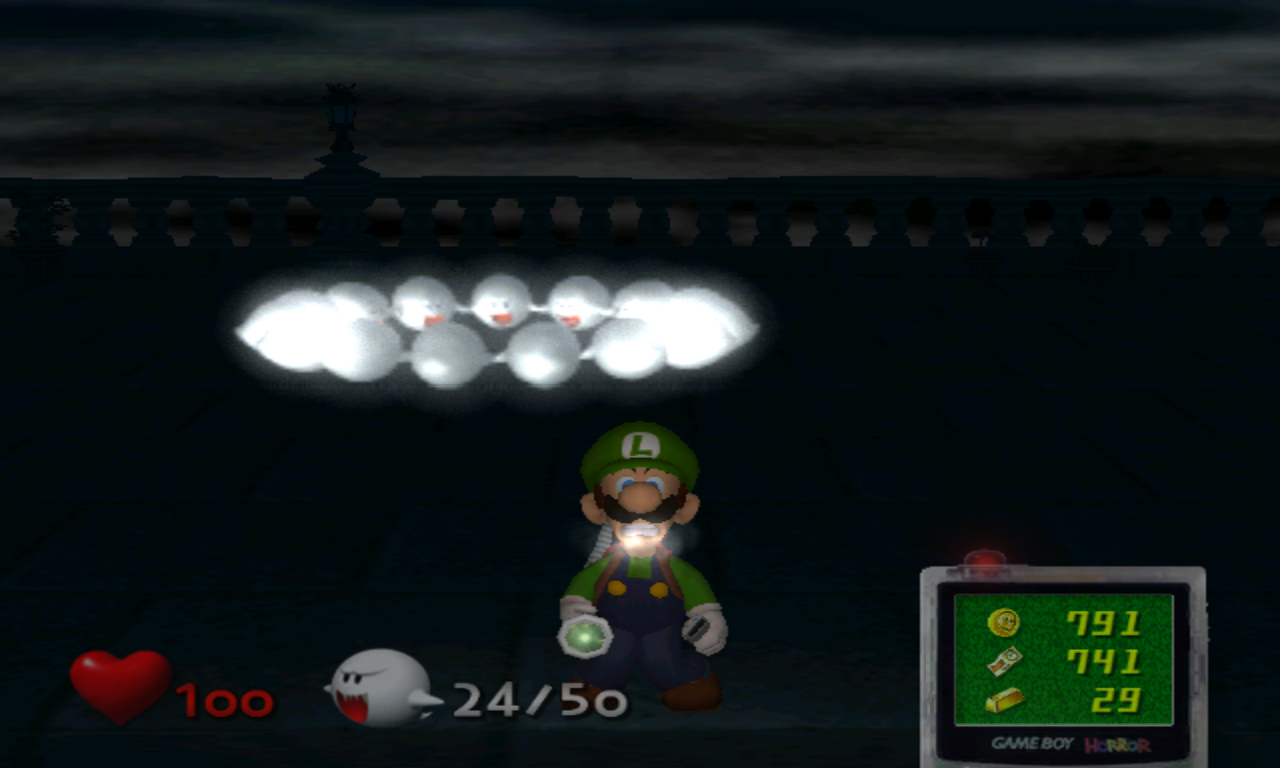 Luigi's Mansion pleins de Boos