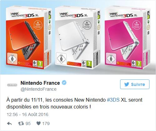 Nintendo Selects Nouveaux Coloris 3DS XL