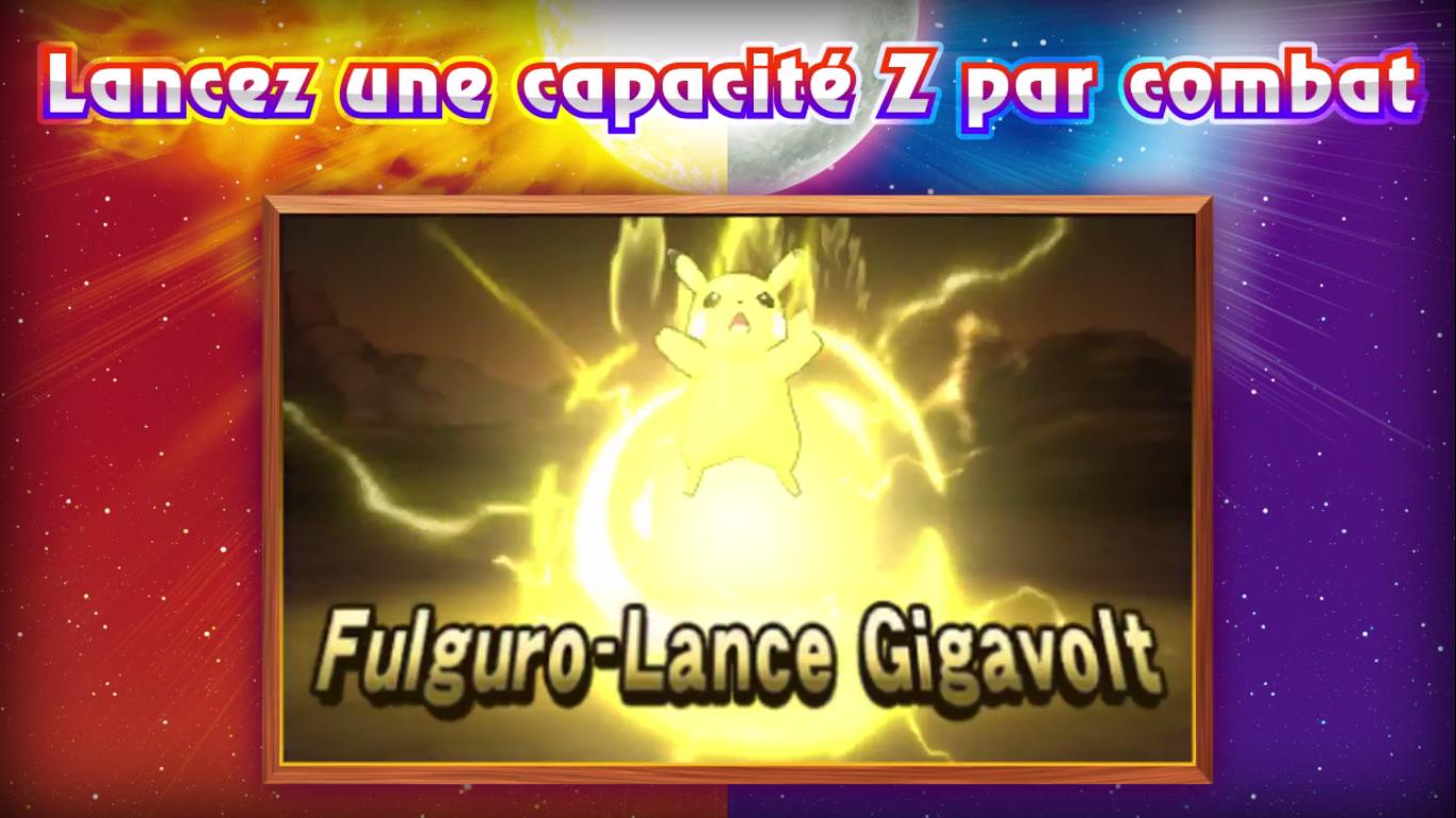 Pokémon Soleil et Lune Capacité Z électrique 2
