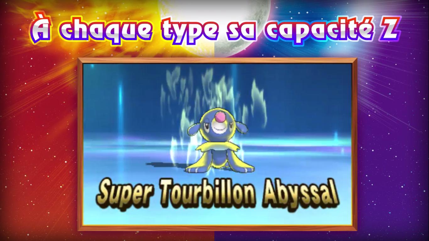 Pokémon Soleil et Lune Capacité Z eau 2