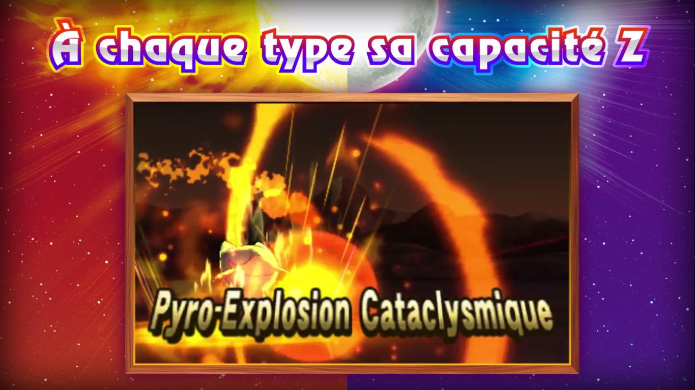 Pokémon Soleil et Lune Capacité Z feu 2