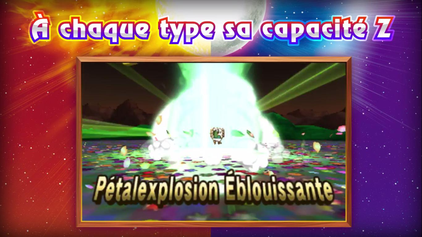 Pokémon Soleil et Lune Capacité Z plante 2