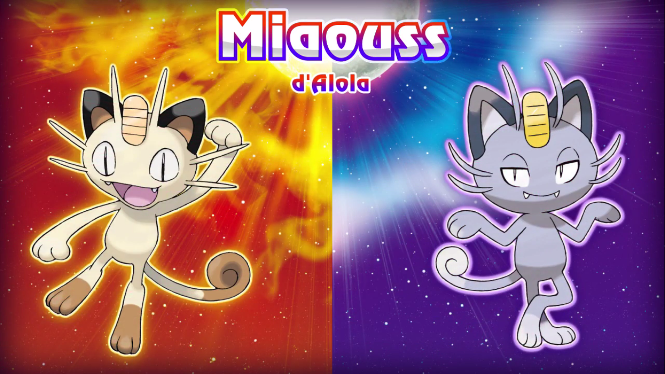 Pokémon Soleil et Lune Miaouss d'Alola