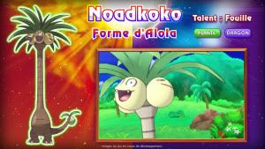 Pokémon Soleil et Lune Noadkoko