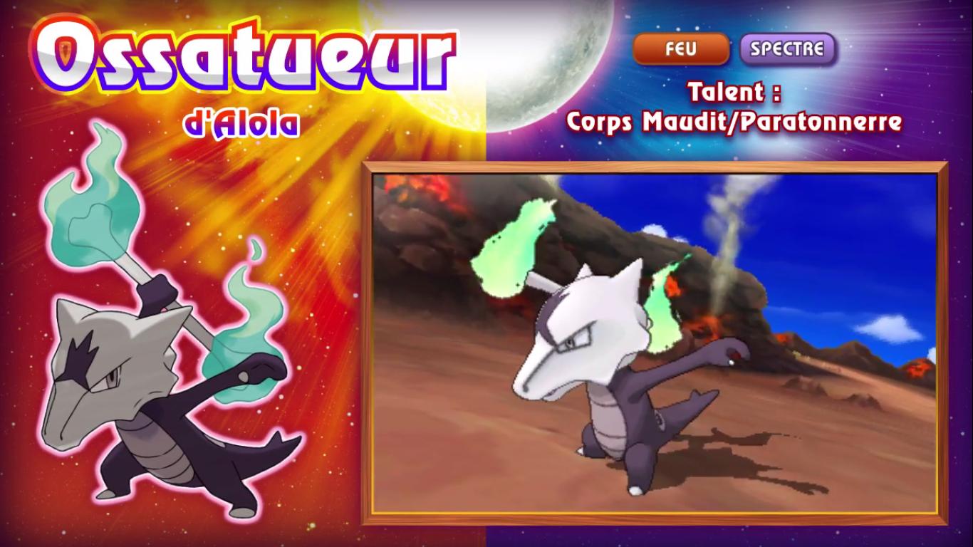 Pokémon Soleil et Lune Ossatueur d'Alola 2