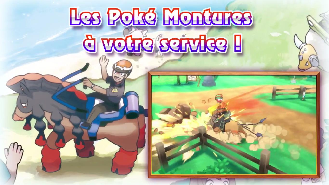 Pokémon Soleil et Lune PokéMontures 1