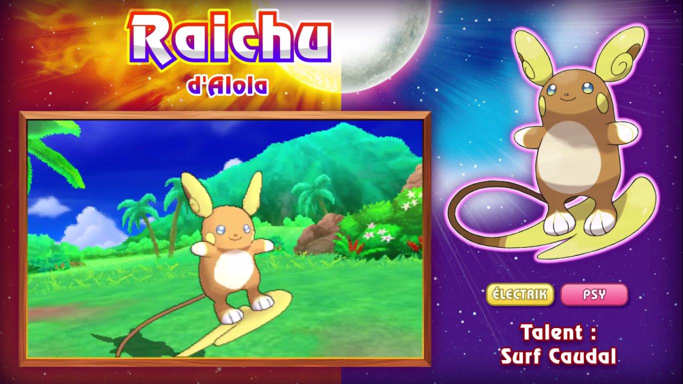 Pokémon Soleil et Lune Raichu d'Alola 2