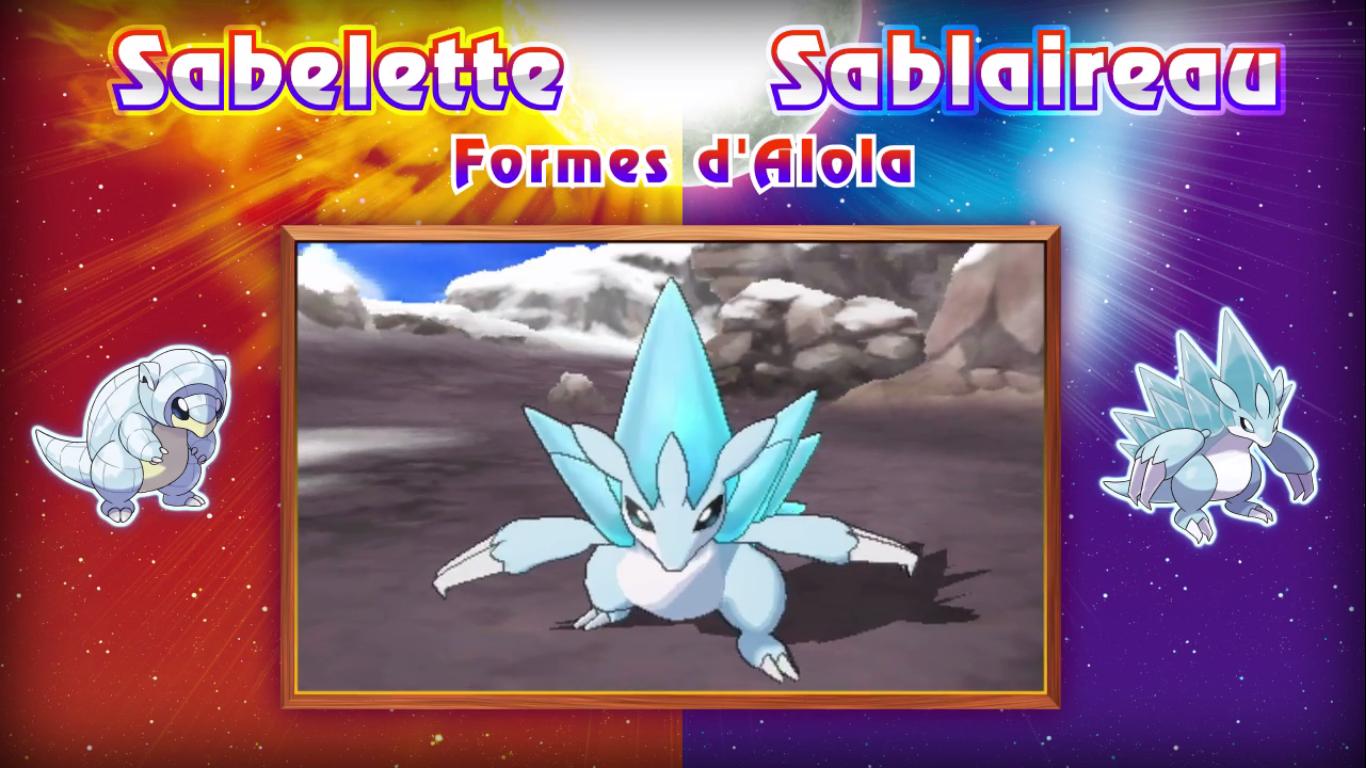 Pokémon Soleil et Lune Sabelette Sablaireau 2