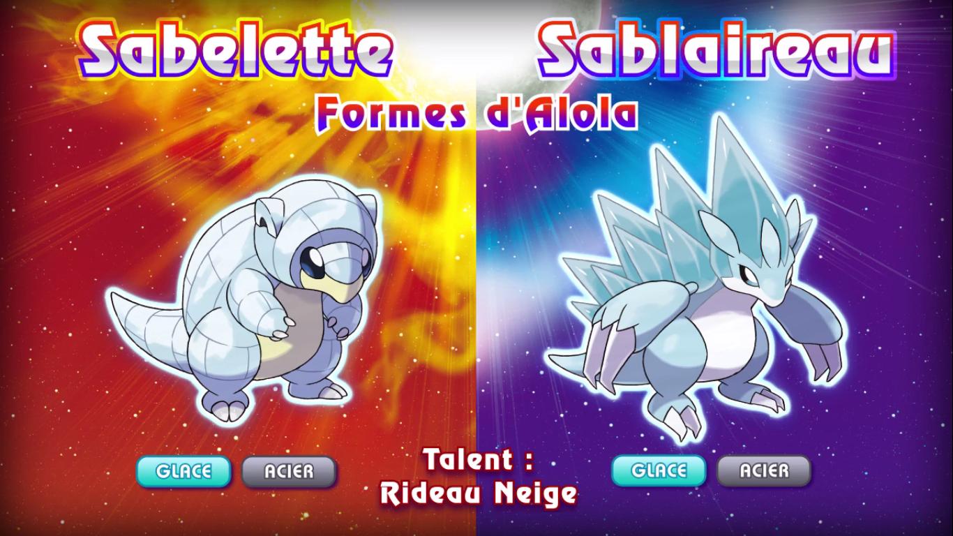 Pokémon Soleil et Lune Sabelette Sablaireau