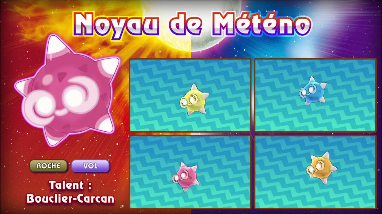 Pokémon Soleil et Lune forme Météno 2