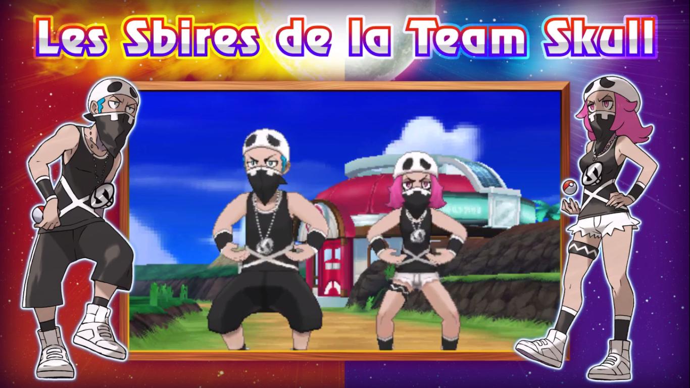 Pokémon Soleil et Lune sbire team Skull