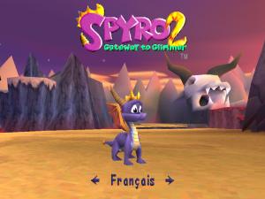 Spyro 2 Gateway to Glimmer écran titre