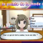 Pokémon Soleil et Lune Coiffure