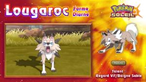 Pokémon Soleil et Lune Lougaroc Diurne