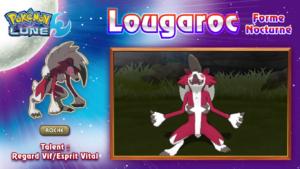 Pokémon Soleil et Lune Lougaroc Nocturne