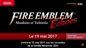 Nintendo Direct Fire Emblem - Fire Emblem Echoes Shadows of Valentia logo