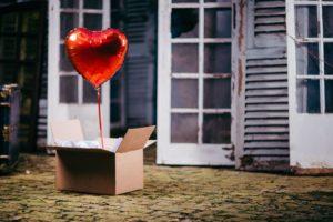 ballon coeur st valentin