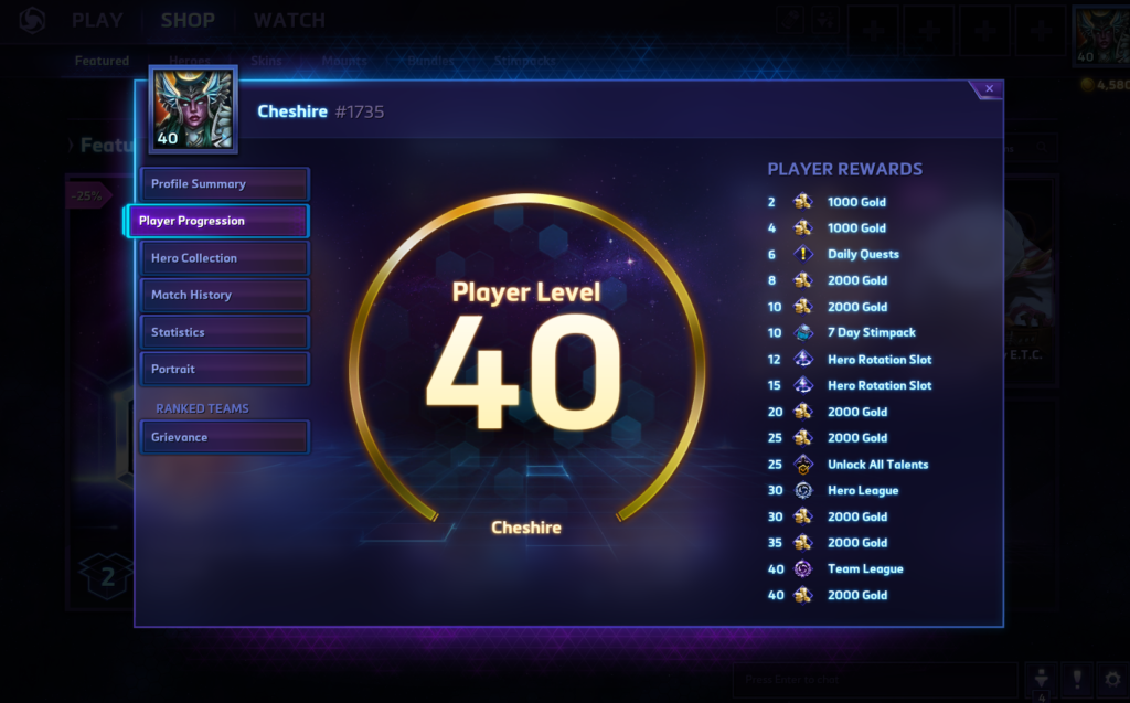 heroes of the storm lvl 40