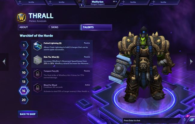 thrall heroes of the storm