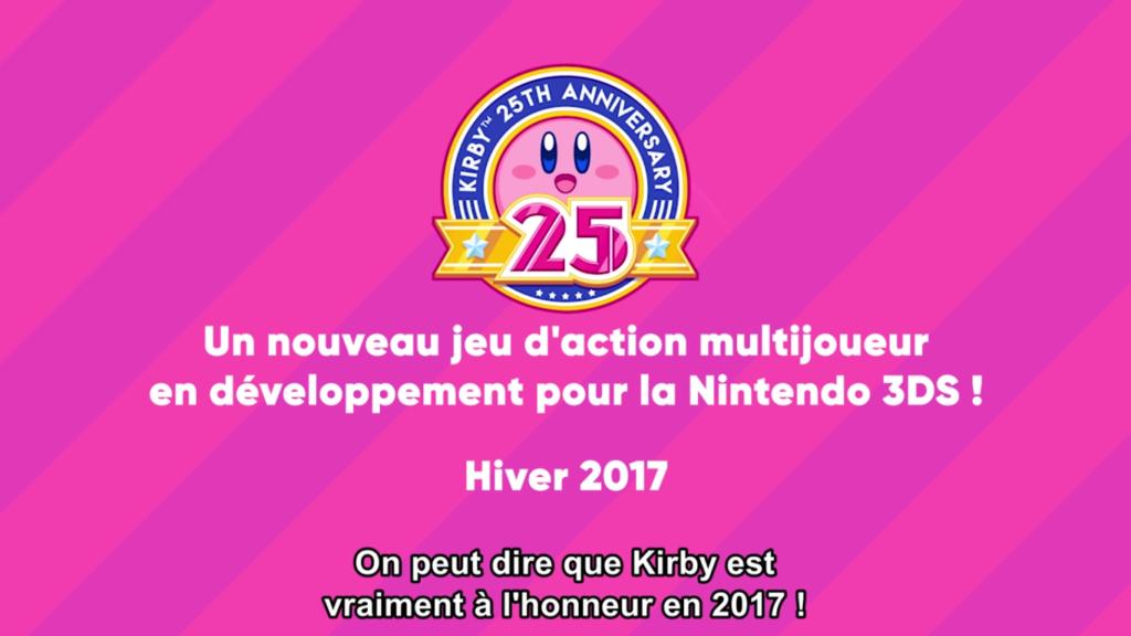 Nintendo Direct Nouveau Jeu Kirby 3DS