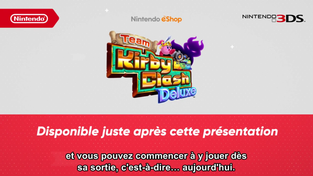 Nintendo Direct Team Kirby Clash Deluxe Date de Sortie