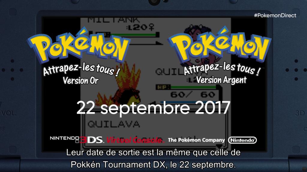 Pokémon Direct Pokémon Or et Argent