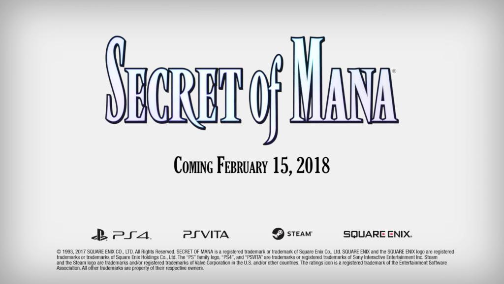 Secret of Mana 3D Remake Date de sortie