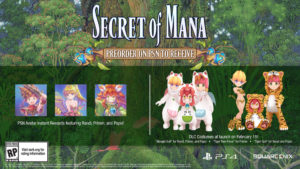 Secret of Mana 3D Remake Précommande PSN