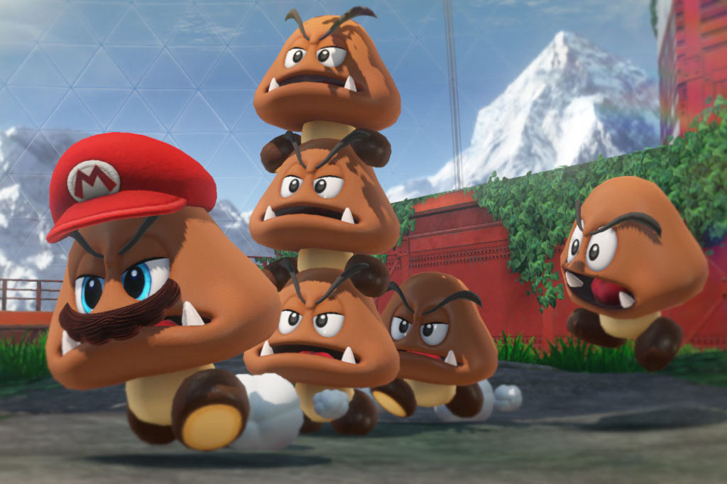 Super Mario Odyssey Transformation en Goomba