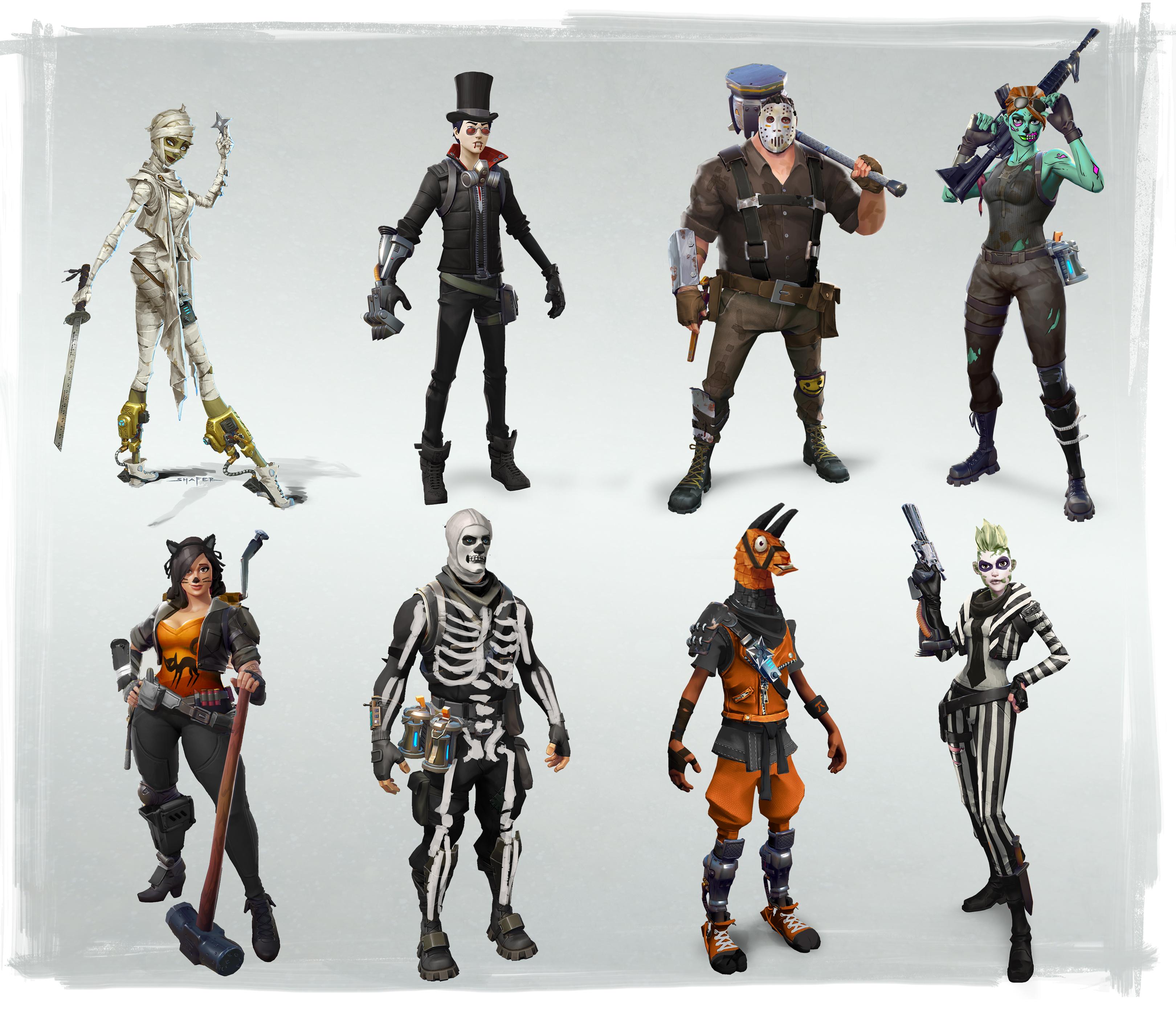 Fortnite Halloween 8 nouveaux héros