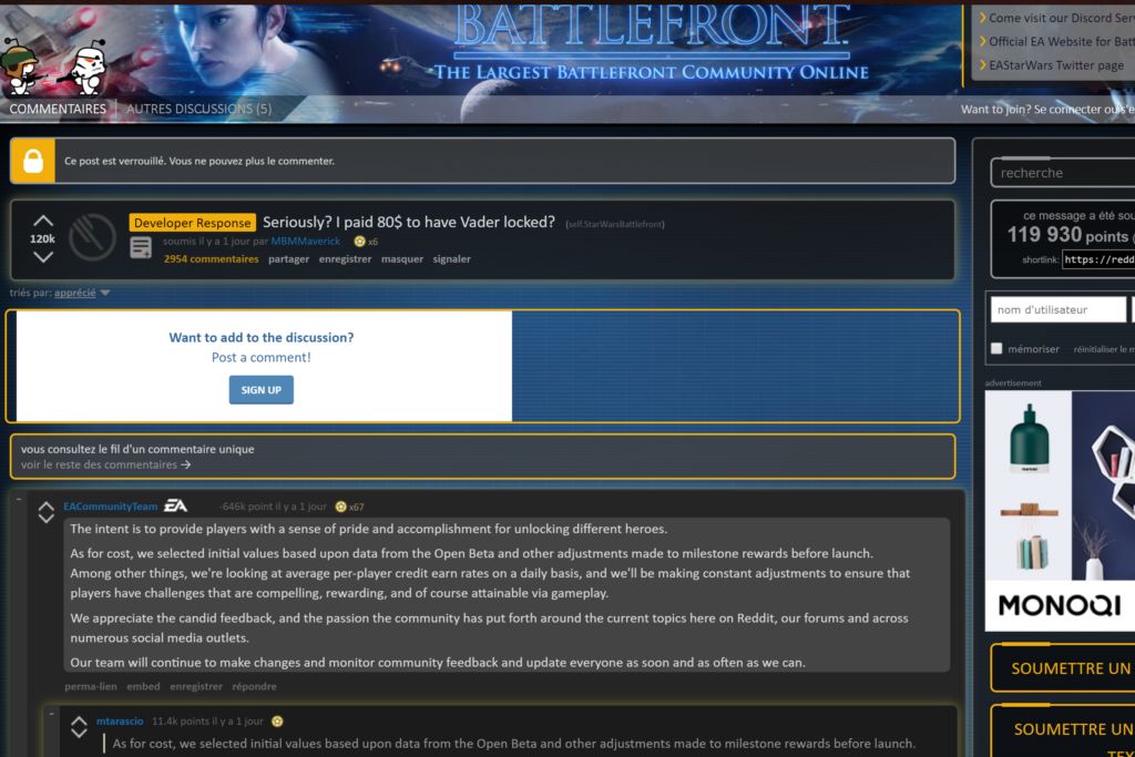 Reddit Star Wars Battlefront 2
