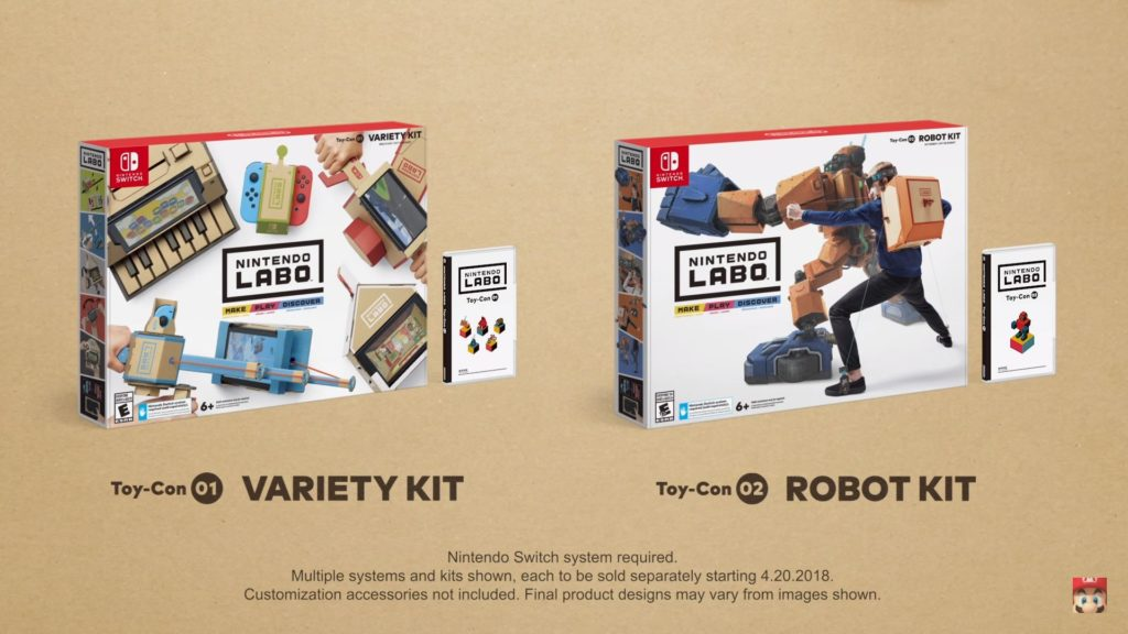 Multi-Kit et Robot-Kit Nintendo Labo