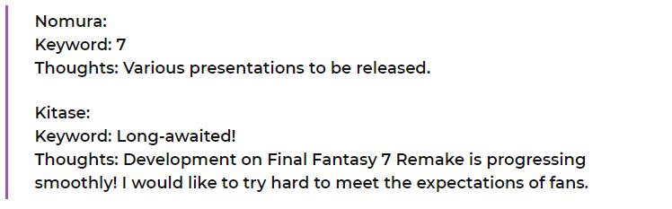 Final Fantasy VII Remake Nomura
